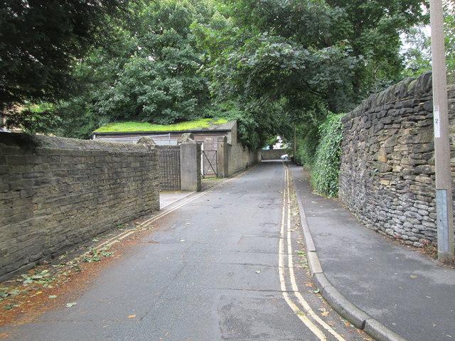 Lister Lane - looking towards Hopwood Lane