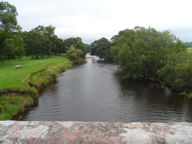 River Eden from Musgrave Bridge (looking east)
