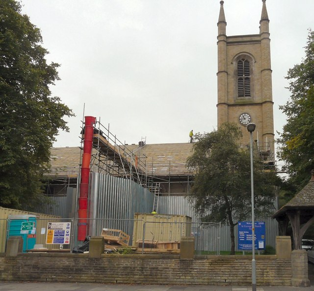 Roof repairs at St George's Church