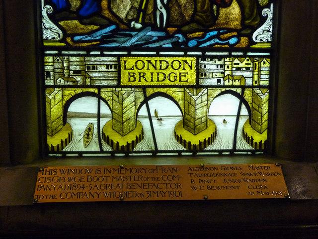 Stained Glass Window, Cutlers Hall, Warwick Lane, London EC2