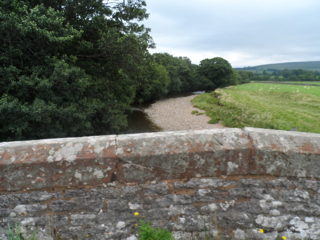 Parapet of Eastfield Bridge and the River Eden