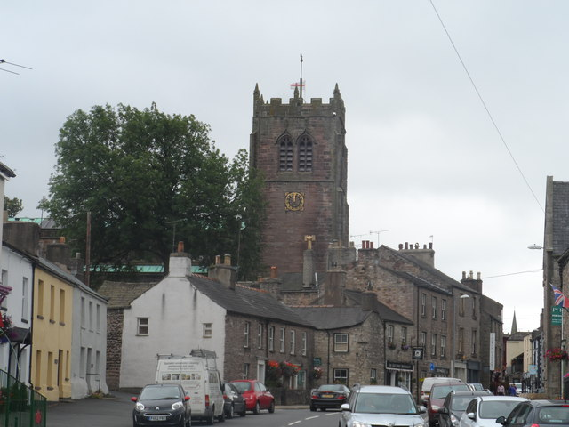 North Road and Parish church, Kirkby Stephen