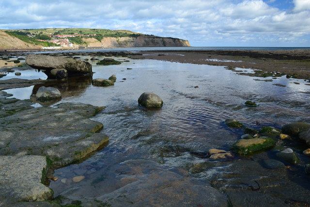 Robin Hood's Bay, from the beach