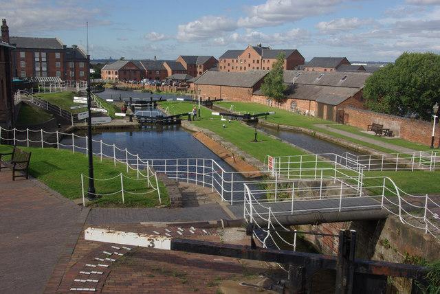 Whitby Locks, Shropshire Union Canal
