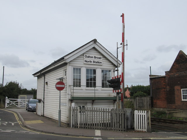 Oulton Broard North Station Signal Box