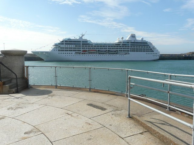 Ocean Princess moored beside the Admiralty Pier