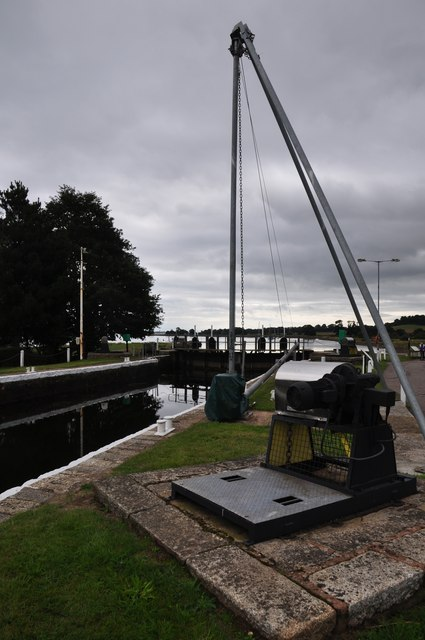 Teignbridge : The Exeter Canal - Turf Lock