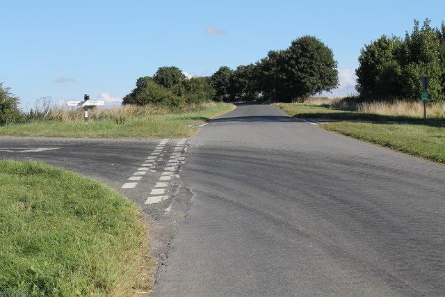 Crossroads on Bluestone Heath Road