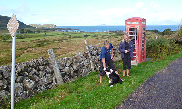 Phone Box with a View