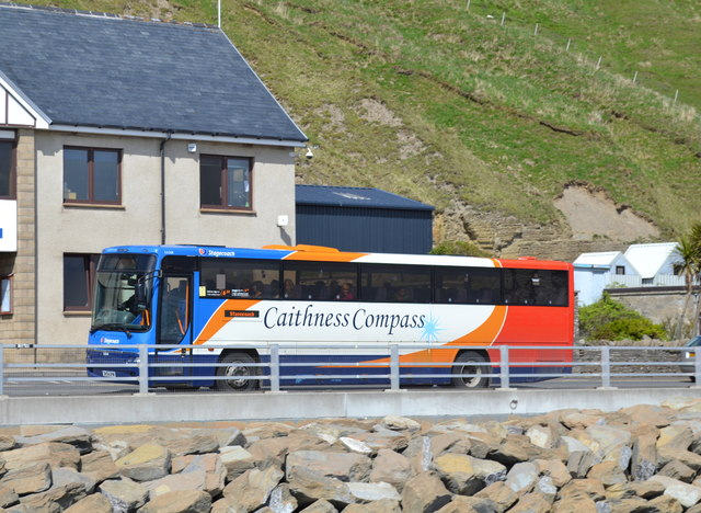 Caithness Compass Bus, Harbour Road, Scrabster