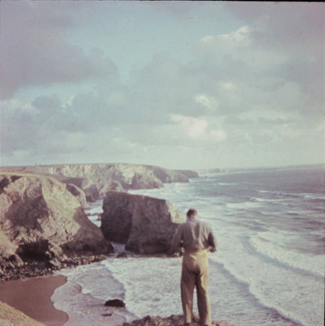 Pentire Cove, Diggory's Island and Bedruthan Steps, 1948