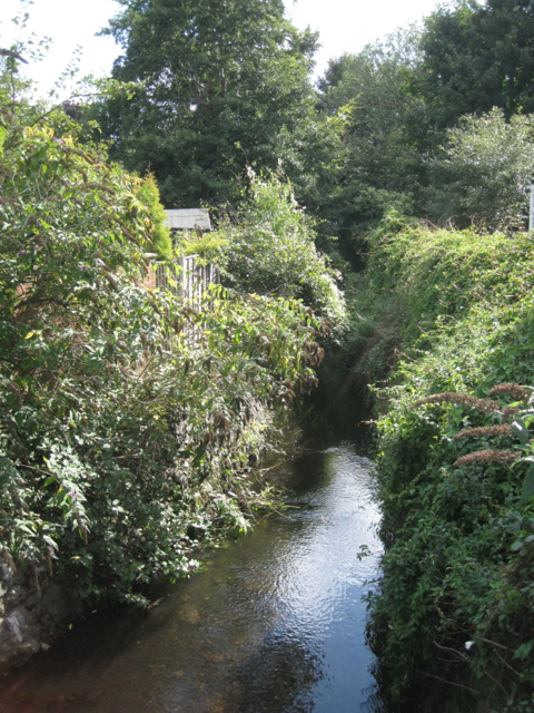 Plants Brook downstream from the Queen Street crossing
