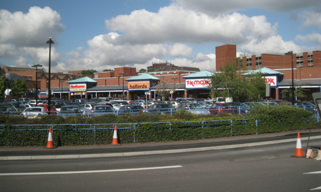 Stores in Newhall Walk, from Queen Street
