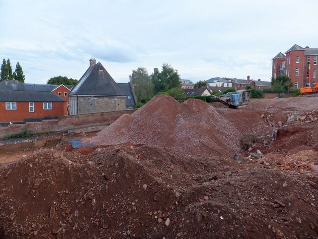 Preparing a building site, Dean Clarke House, Exeter