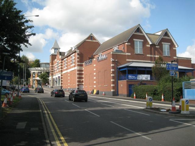 Rear of Aldi store by Queen Street