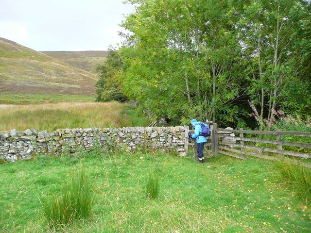 Gate on the route to the Three Brethren