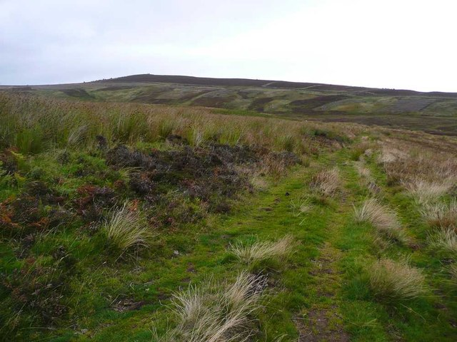 Track over Foulshiels Hill