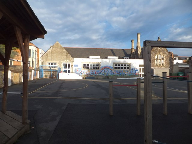 The playground of St David's Primary School, Exeter