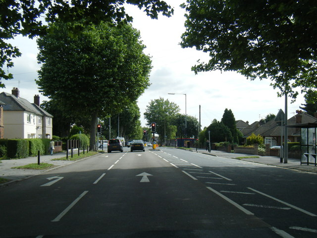 A15 Wragby Road nears Ruskin Avenue