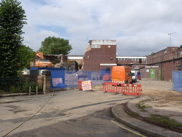Demolition at Beeston Square, the final phase