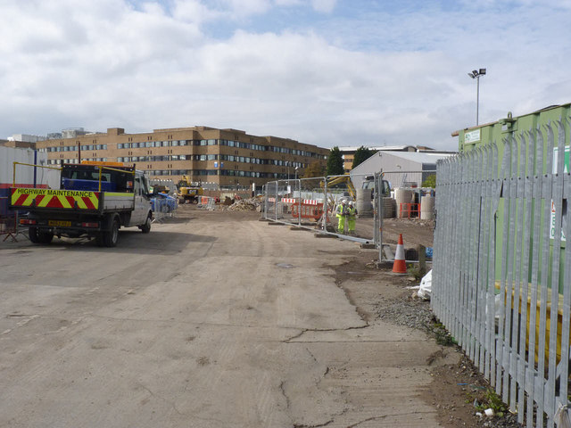 Works compound of Abbey Street