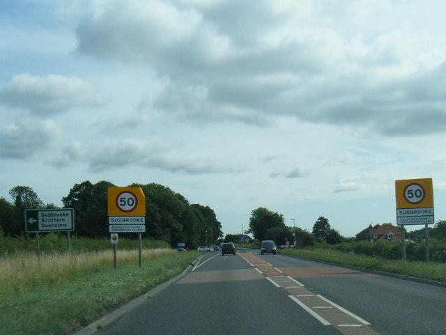 A158 at Sudbrooke boundary