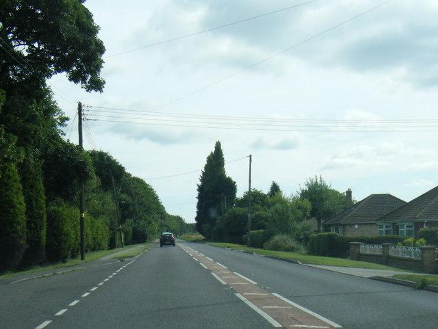 A158 eastbound near Sudbrooke Park