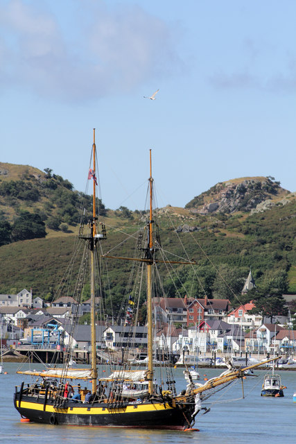 HMS Pickle in the river Conwy