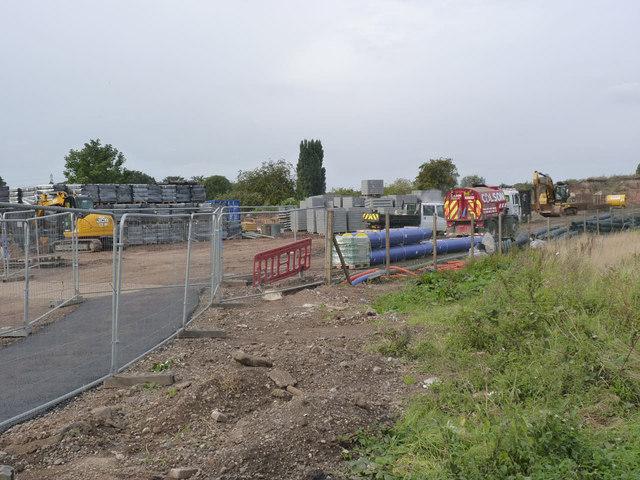 Tramway works at Wilford Lane