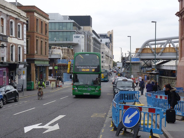 Bus service diversion, Station Street