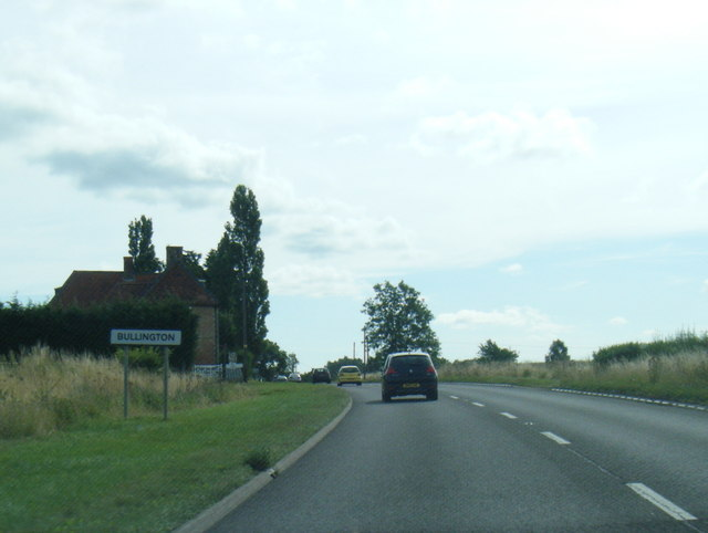 A158 at Bullington village boundary