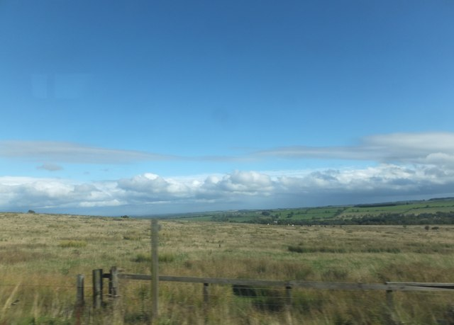 Footpath over moorland