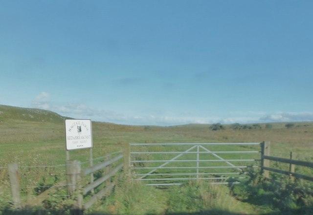 Farmland by the B6342