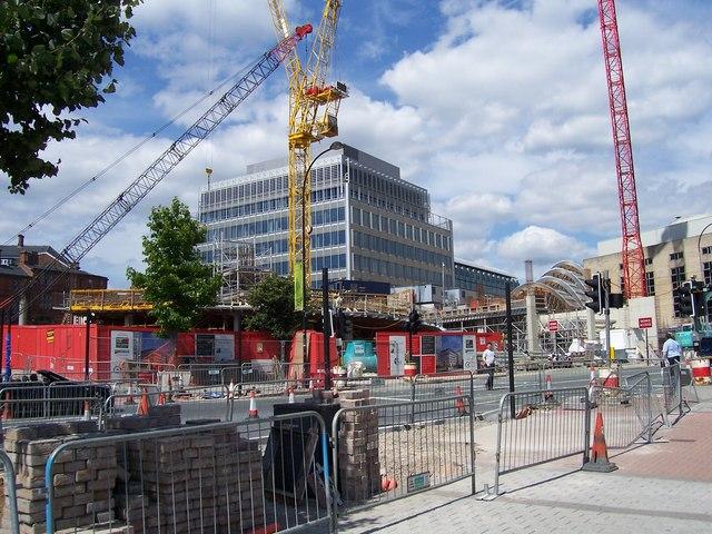 Building site on Arundel Gate