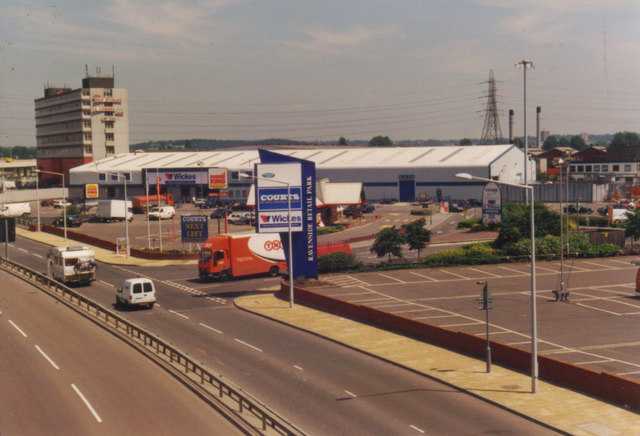 Ravenside Retail Park, The Angel Edmonton 1998