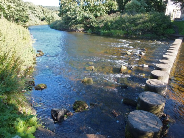 Stepping stones over the Coquet