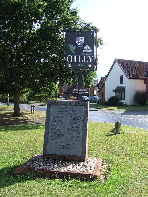 Otley Village Sign And War Memorial