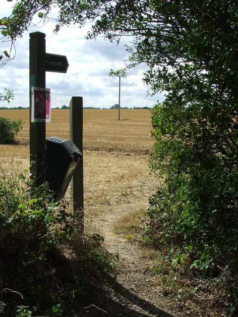 Footpath And Sign