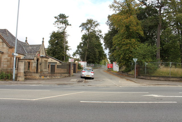 Side Road into Hawkhead Village Complex