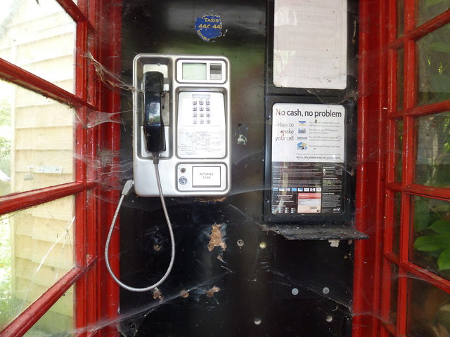 Well used phone box in Combe Hay