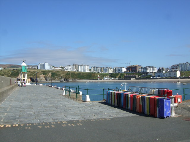 Raglan Pier and a view across Port Erin Bay