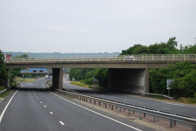 A25 bridge over the A21