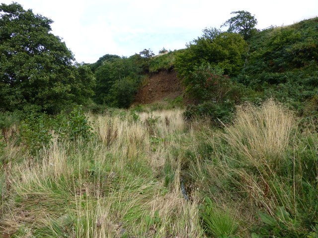 Erosion at the foot of Hare Law