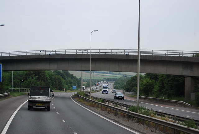 Chevening Road Bridge, M25 spur