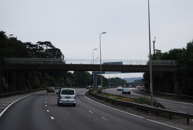 Footbridge over the M25