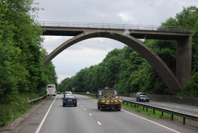 A21, southbound, Gracious Lane Bridge
