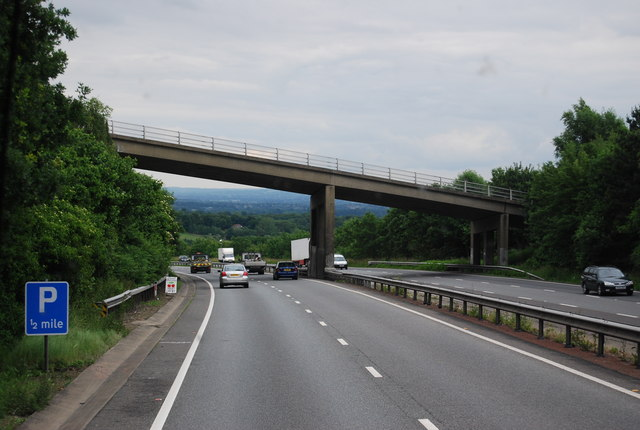 Hubbard's Hill Bridge, A21, southbound