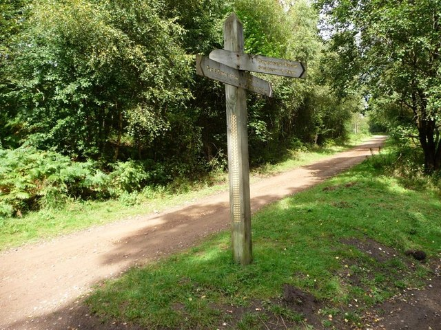 Signpost at the cycleway junction
