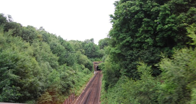 Looking to the Somerhill Tunnel