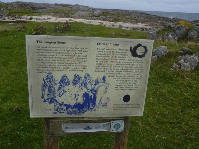 Information Board at the Ringing Stone, Tiree